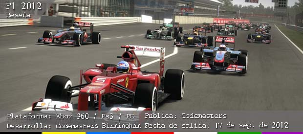 F1 2012, Codemasters, PC, PS3, Xbox 360