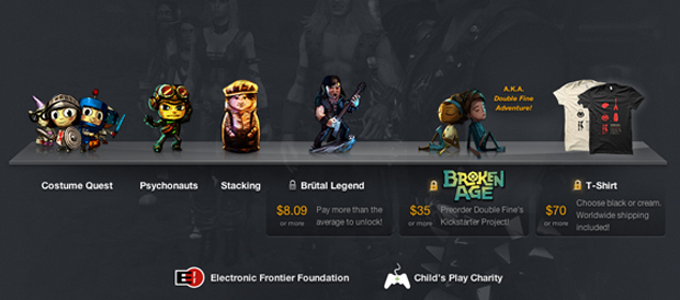 Humble Bundle, Double Fine, Costume Quest, Psychonauts, Stacking, Brütal Legend, Broken Age