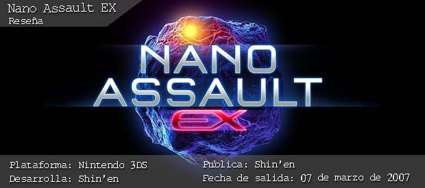 Nano Assault EX, 3DS, Nintendo