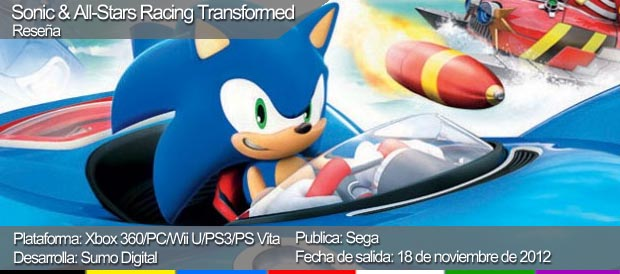 Sonic & All Stars-Racing: Transformed, SEGA, PS3, Xbox 360, Wii U, PS Vita